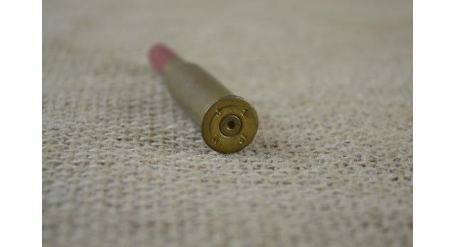 Учебный патрон 8х50-мм R Лебель с деревянной пулей/С красной пулей клеймо 1 [мт-85(1)]