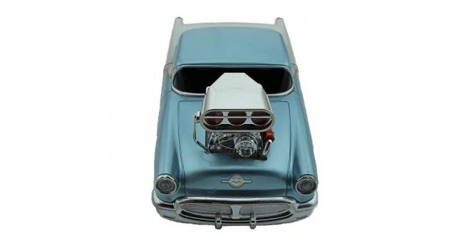 Р/У машина из серии &quotMuscle Сar&quot с гоночным Мотором 1/16 + свет + звук голубая 3