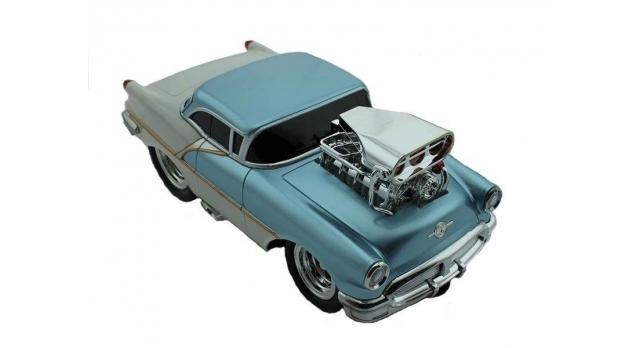 Р/У машина из серии &quotMuscle Сar&quot с гоночным Мотором 1/16 + свет + звук голубая 4