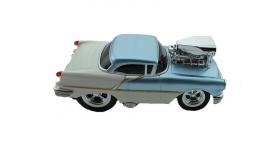 Р/У машина из серии &quotMuscle Сar&quot с гоночным Мотором 1/16 + свет + звук голубая 5