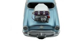 Р/У машина из серии &quotMuscle Сar&quot с гоночным Мотором 1/16 + свет + звук голубая 9