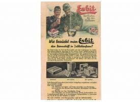 Оригинальный вкладыш в упаковку газовой горелки Esbit
