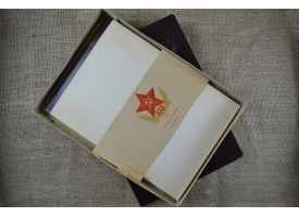 """Блокнот """"30 лет Советской Армии"""" в подарочной упаковке"""