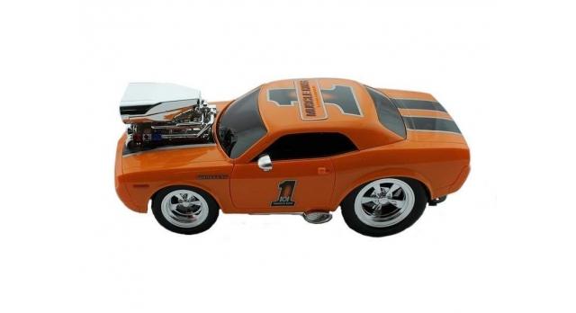 Р/У машина из серии &quotMuscle Сar&quot с гоночным Мотором 1/16 + свет + звук желтая 2