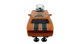 Р/У машина из серии &quotMuscle Сar&quot с гоночным Мотором 1/16 + свет + звук желтая 7