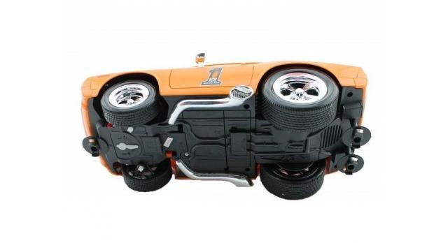 Р/У машина из серии &quotMuscle Сar&quot с гоночным Мотором 1/16 + свет + звук желтая 9