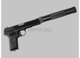 Глушитель для пистолета ТТ / Оригинал с переходником-восьмёркой [тт-200]