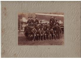 Групповое фото нижних чинов артиллерии Русской Императорской Армии