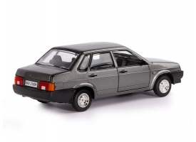 Машина &quotАВТОПАНОРАМА&quot ВАЗ 21099, 1/22, серый, инерция, в/к 24,5*12,5*10,5 см 1