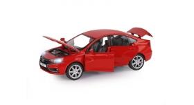 Машина &quotАВТОПАНОРАМА&quot LADA VESTA седан, 1/24,  красный, свет. звук. эффекты, в/к 24,5*12,5*10,5 см 4