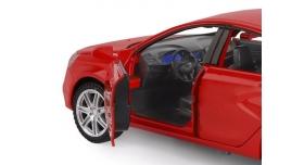 Машина &quotАВТОПАНОРАМА&quot LADA VESTA седан, 1/24,  красный, свет. звук. эффекты, в/к 24,5*12,5*10,5 см 6