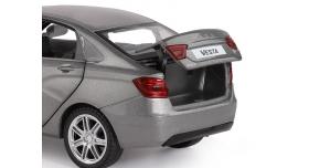 Машина &quotАВТОПАНОРАМА&quot LADA VESTA седан, 1/24,  серый, свет. звук. эффекты, в/к 24,5*12,5*10,5 см 8
