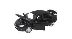 Машина &quotАВТОПАНОРАМА&quot LADA VESTA седан, 1/24,  черный металлик, свет, звук, в/к 24,5*12,5*10,5 см 2