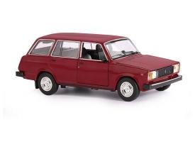 """Машина """"АВТОПАНОРАМА"""" ВАЗ 2104, 1/24, бордовый, инерция, в/к  24,5*12,5*10,5 см"""