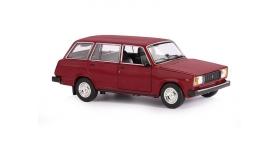 Машина &quotАВТОПАНОРАМА&quot ВАЗ 2104, 1/24, бордовый, инерция, в/к  24,5*12,5*10,5 см 1