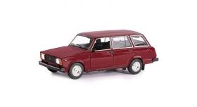 Машина &quotАВТОПАНОРАМА&quot ВАЗ 2104, 1/24, бордовый, инерция, в/к  24,5*12,5*10,5 см 2
