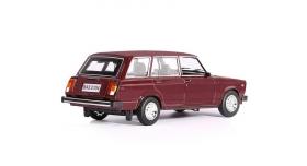 Машина &quotАВТОПАНОРАМА&quot ВАЗ 2104, 1/24, бордовый, инерция, в/к  24,5*12,5*10,5 см 3