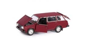Машина &quotАВТОПАНОРАМА&quot ВАЗ 2104, 1/24, бордовый, инерция, в/к  24,5*12,5*10,5 см 5