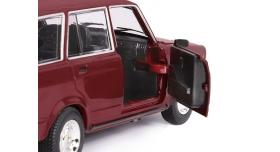 Машина &quotАВТОПАНОРАМА&quot ВАЗ 2104, 1/24, бордовый, инерция, в/к  24,5*12,5*10,5 см 8