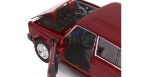 Машина &quotАВТОПАНОРАМА&quot ВАЗ 2104, 1/24, бордовый, инерция, в/к  24,5*12,5*10,5 см 10