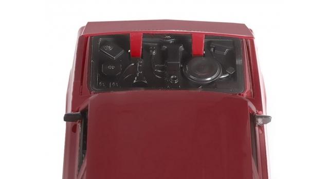 Машина &quotАВТОПАНОРАМА&quot ВАЗ 2104, 1/24, бордовый, инерция, в/к  24,5*12,5*10,5 см 11