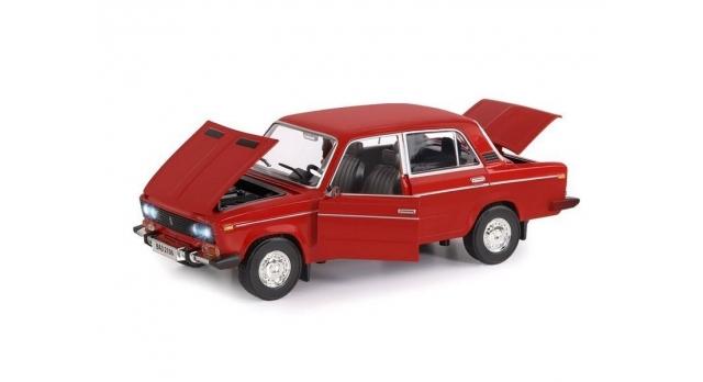 Машина &quotАВТОПАНОРАМА&quot ВАЗ 2106, 1/22, красный, инерция, в/к 24,5*12,5*10,5 см 3