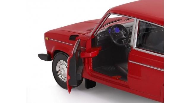 Машина &quotАВТОПАНОРАМА&quot ВАЗ 2106, 1/22, красный, инерция, в/к 24,5*12,5*10,5 см 5