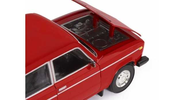 Машина &quotАВТОПАНОРАМА&quot ВАЗ 2106, 1/22, красный, инерция, в/к 24,5*12,5*10,5 см 6