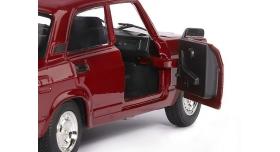 Машина &quotАВТОПАНОРАМА&quot ВАЗ 2107, 1/24, бордовый, инерция, в/к  24,5*12,5*10,5 см 8