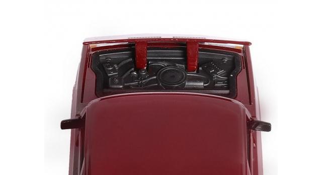 Машина &quotАВТОПАНОРАМА&quot ВАЗ 2107, 1/24, бордовый, инерция, в/к  24,5*12,5*10,5 см 9