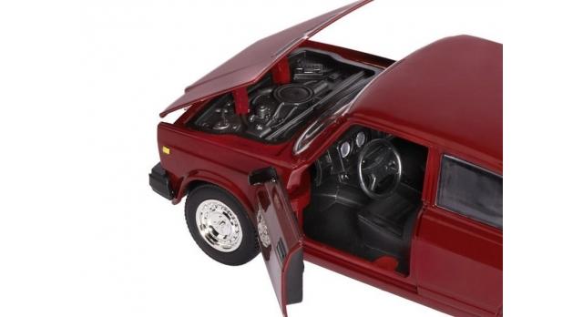 Машина &quotАВТОПАНОРАМА&quot ВАЗ 2107, 1/24, бордовый, инерция, в/к  24,5*12,5*10,5 см 10