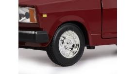 Машина &quotАВТОПАНОРАМА&quot ВАЗ 2107, 1/24, бордовый, инерция, в/к  24,5*12,5*10,5 см 11