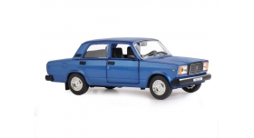 Машина &quotАВТОПАНОРАМА&quot ВАЗ 2107, 1/24, синий, инерция, в/к 24,5*12,5*10,5 см 1