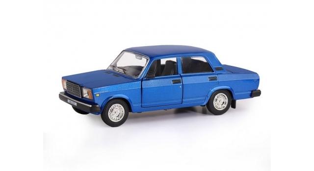 Машина &quotАВТОПАНОРАМА&quot ВАЗ 2107, 1/24, синий, инерция, в/к 24,5*12,5*10,5 см 2