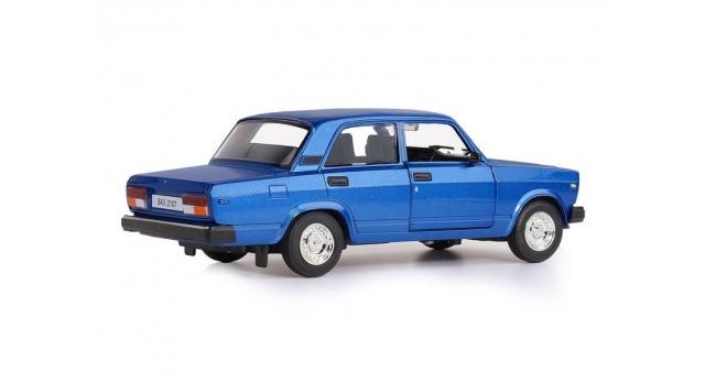 Машина &quotАВТОПАНОРАМА&quot ВАЗ 2107, 1/24, синий, инерция, в/к 24,5*12,5*10,5 см 3