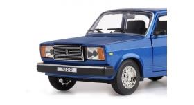 Машина &quotАВТОПАНОРАМА&quot ВАЗ 2107, 1/24, синий, инерция, в/к 24,5*12,5*10,5 см 6