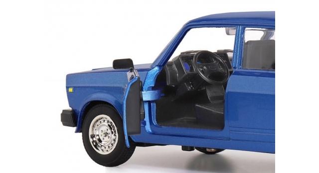 Машина &quotАВТОПАНОРАМА&quot ВАЗ 2107, 1/24, синий, инерция, в/к 24,5*12,5*10,5 см 7