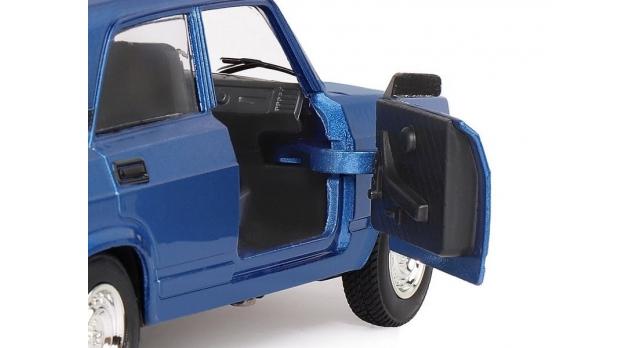 Машина &quotАВТОПАНОРАМА&quot ВАЗ 2107, 1/24, синий, инерция, в/к 24,5*12,5*10,5 см 8