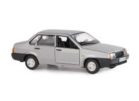 """Машина """"АВТОПАНОРАМА"""" ВАЗ 21099, 1/22, серебряный, инерция,  в/к 24,5*12,5*10,5 см"""