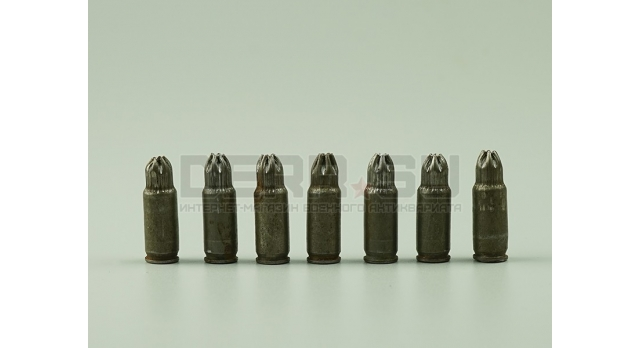 Холостые патроны 7.62х25-мм для ТТ,ППШ,ППС / Стальные без лака [сиг-130]