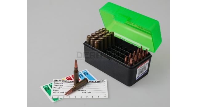 MTM Case Gart P50 / Чёрный с прозрачной зелёной крышкой для 5,45х39-мм и прочие с длинной до 67-мм [RS-50-16T]