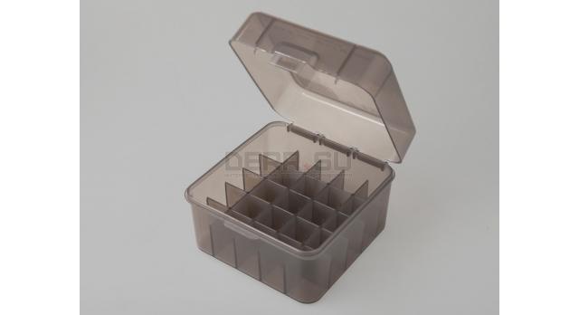 Коробка для патронов «Магнум» 12 и 10 калибров MTM Полупрозрачная серая [S25-12M-41]