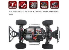 Радиоуправляемый шорт-корс Remo Hobby EX3 (красный) 4WD 2.4G 1/10 RTR 1
