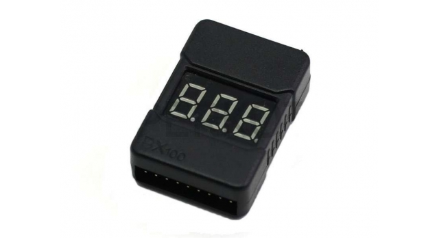 Сигнализатор просадки напряжения LiPo аккумуляторов в корпусе 1