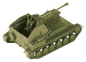Сборная модель ZVEZDA Советская САУ СУ-76М, 1/100 1