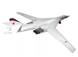 Сборная модель ZVEZDA Российский стратегический бомбардировщик Ту-160, подарочный набор, 1/144