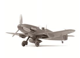 """Сборная модель ZVEZDA Немецкий истребитель """"Мессершмитт"""" Bf-109F4, 1/48"""