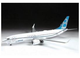Сборная модель ZVEZDA Пассажирский авиалайнер Боинг 737-8 MAX, 1/144