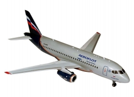 Сборная модель ZVEZDA Региональный пассажирский авиалайнер Superjet 100, подарочный набор, 1/144