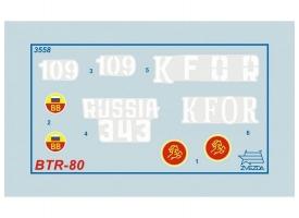 Сборная модель ZVEZDA Российский бронетранспортер БТР-80, 1/35 1